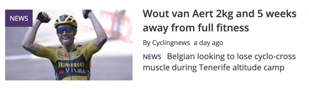 Wout Van Aert lose 2kg
