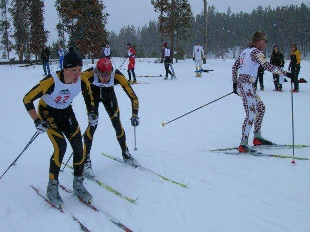 Matti Rowe skiing